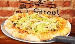 2nd Street Bistro Cheeseburger Pizza