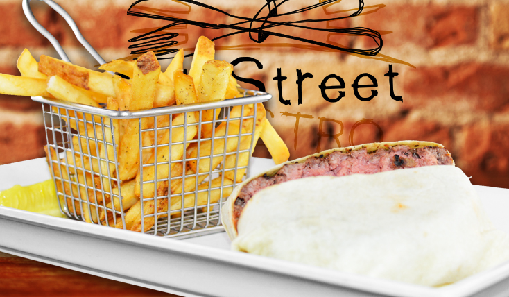 Enjoy Cheeseburger Wrap at 2nd Street Bistro