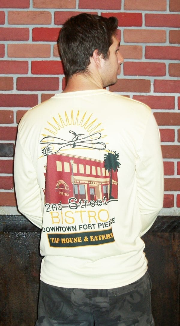 Bistro Building Dry Fit Mens T-Shirt Long Sleeve