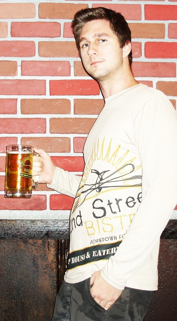 Bistro Logo Dry Fit Mens T-Shirt Long Sleeve