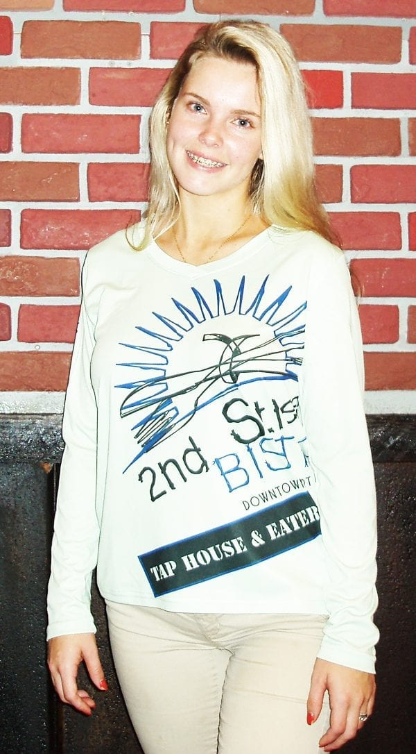 Bistro Logo Dry Fit T-Shirt Womens Long Sleeve