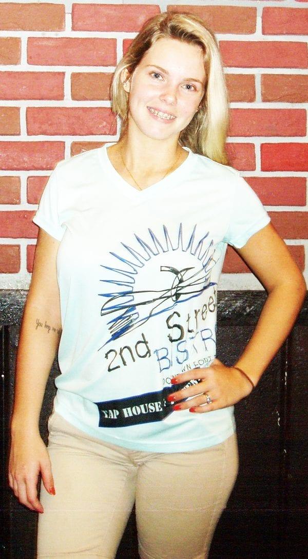 Bistro Logo Dry Fit Womens T_shirt Short Sleeve